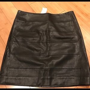 VINCE Black Leather Skirt (new with tags)